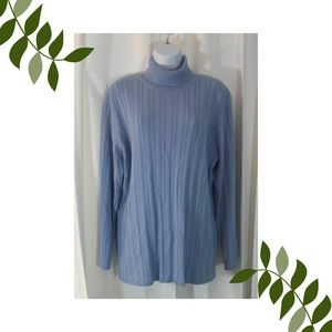 Talbots nwt sweater womens 2X blue ribbed